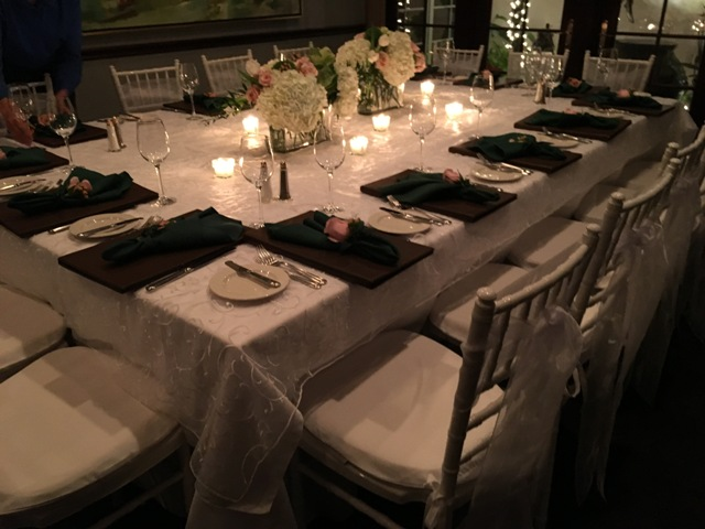 ambiance white for a dinner party