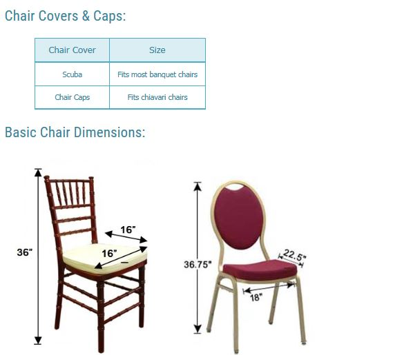 Chair Covers and Chair Sizes