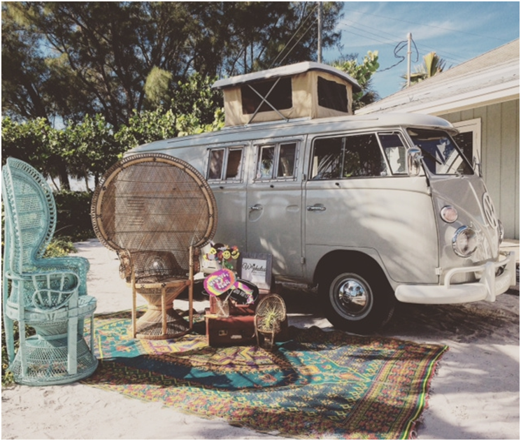 VW bus pic hipster wedding