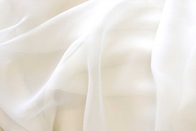 Voile Drapes White