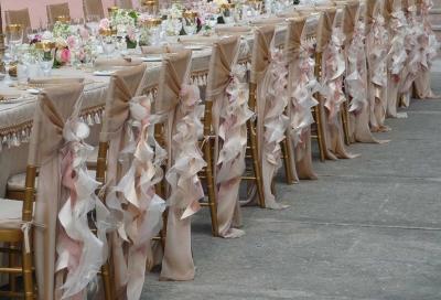 Chiavari Chair Wrap Chiffon Champagne