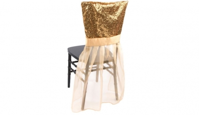 Gold Glimmer & Organza Chair Ensemble