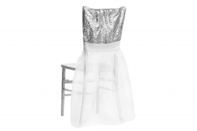 Silver Glimmer & Organza Chair Ensemble