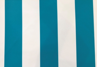 Three Inch Wide Stripe Turquoise